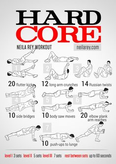 Hard Core Workout - workout posters by Neila Rey Neila Rey Workout, Sixpack Workout, Ab Core Workout, Free Workout, 300 Workout, Hero Workouts, At Home Workouts, Ab Workouts, Workout Routines