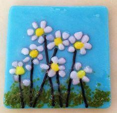 Fused Glass Night Lights - These are a hot item right now. They are also fun to make. Stained Glass Night Lights, Artist Gallery, Fused Glass, Glass Art, Daisy, Hair Accessories, Spring, Hot, Flowers