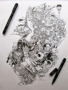 Grafische kunst in je notitieboek - Rolinka Versluis