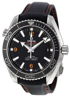 Omega Seamaster Planet Ocean - We love the way this Omega looks. It's similar to a classic Rolex design, but it looks more modern and fresh. The orange hour indicators, the shape and color of the hands, everything works really well together. Add in some premium materials and a powerful name like Omega, and you've got a winner for sure.