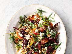 Bright in appearance and flavour, this vegetable dish complements mixed-colour baby beets with fresh citrus and creamy goat's cheese