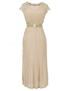 Awesome V Neck Beading Hollow Out Lace Patchwork Maxi-dresses Maxi Dresses from fashionmia.com