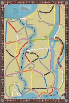Ticket to Ride Niagara - a custom map for 2 to 3 players