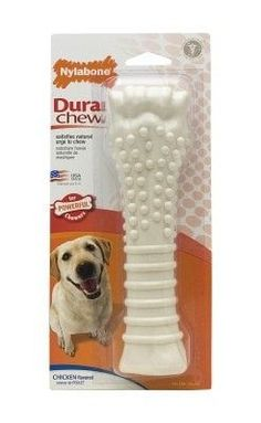 DOG TOYS - RUBBER AND PLASTIC - NYLABONE DURA CHEW - SOUPER - CHICKEN - CENTRAL - TFH PUBLICATIONS - UPC: 18214778141 - DEPT: DOG PRODUCTS