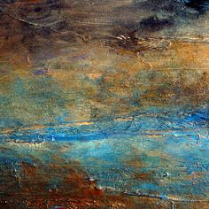 Contemporary Abstract Acrylic Textured Painting RUSTIC Artist Holly Anderson