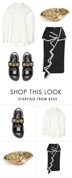 """""""Bernadette"""" by babemagnet ❤ liked on Polyvore featuring Marni, Jacquemus, AERIN and Givenchy"""