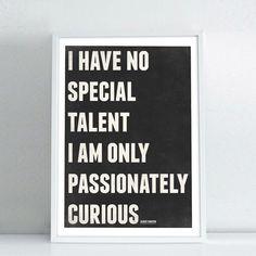 NeueGraphic Albert Einstein quote poster - $18.00, via Etsy.