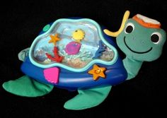 BABY EINSTEIN NEPTUNE TURTLE SHAPED AQUARIUM CRIB TOY/SOOTHER