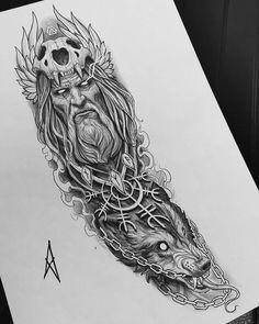Half Sleeve Tattoos Sketches, Celtic Sleeve Tattoos, Viking Tattoo Sleeve, Egyptian Tattoo Sleeve, Wolf Tattoo Sleeve, Half Sleeve Tattoos For Guys, Viking Tattoos, Tattoo Sleeve Designs, Japan Tattoo Design