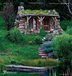 Stone Cottages, Small Cottages, Cabins And Cottages, Stone Houses, Log Cabins, Small Log Cabin, Little Cabin, Tiny House Cabin, Cabin Homes
