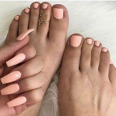nails in 2019 nails, toe nails, feet nails. Painted Toe Nails, Cute Acrylic Nails, Peach Acrylic Nails, Acrylic Toes, Peach Nails, Yellow Nails, Bright Nails, White Nails, Coral Pink Nails