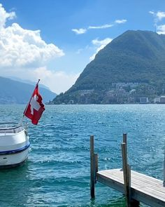 Swiss Travel, Lugano, Switzerland, Boat, Beautiful, Dinghy, Boats, Ship