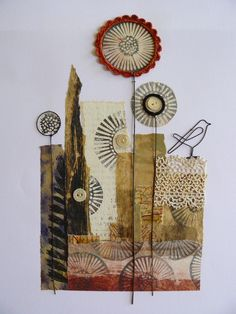 I love everything about this! Print, paper & stitch - love all the different textures!
