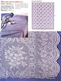 Vintage crochet bedspread, filet work ♥LCB-MRS♥ with diagram. This is one bedspread that requires lots and lots of hours to do. I would just do the frame as a curtain.