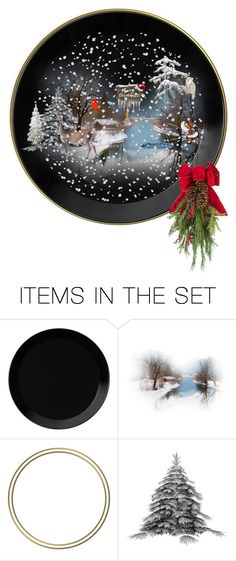 """Christmas Plate"" by suelb ❤ liked on Polyvore featuring art, decor, artset, creativesets and artscape"