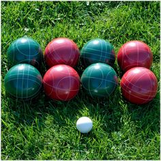 Jazz up your adventures with this red and green Hey! Play! outdoor bocce ball set. The included carrying case provides easy storage and transportation, while the heavy-duty resin composite balls offer lasting play on various surfaces. This Hey! Play! outdoor bocce ball set presents a versatile sport for tournament-style play or enjoyment with family and friends. Outdoor Games, Outdoor Fun, Outdoor Ideas, Triumph Sports, Lawn Games, Cornhole Set, Sports Toys, Bowling, 6 Years