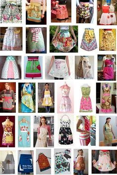 pattern day: Aprons Quilt Inspiration: Free pattern day: Aprons - really cute ones!Quilt Inspiration: Free pattern day: Aprons - really cute ones! Sewing Patterns Free, Free Sewing, Free Pattern, Quilt Patterns, Retro Apron Patterns, Dress Patterns, Easy Apron Pattern, Vintage Apron Pattern, Sewing Designs