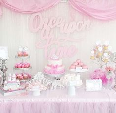 Princess baby shower party dessert table! See more party planning ideas at CatchMyParty.com!