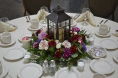 lantern with wreath centerpiece. Woodland forest with marsala colors: burgundy. lantern with wreath centerpiece. Woodland forest with marsala colors: burgundy, lavender, cream. Rustic Lantern Centerpieces, Beach Wedding Centerpieces, Rustic Lanterns, Wedding Lanterns, Diy Centerpieces, Decoration Table, Wedding Reception Decorations, Centrepieces, Burgundy Wedding