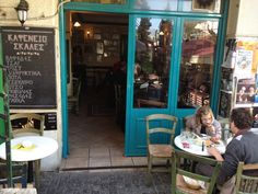 via Ioannou giannarakis on Greek Cafe, Coffee Places, Cheese Shop, Hidden Places, Cafe Bar, Cool Bars, Athens, The Neighbourhood, Greece