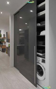 #satniskrin #skrin #wardrobe #slidinigdoor #offene Küche - My<br> Modern Bathroom Design, Bathroom Interior Design, Modern House Design, Kitchen Interior, Luxury Kitchen Design, Luxury Bedroom Design, Interior Modern, Luxury Interior, Interior Paint