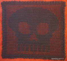 Dia de la Abby: #2 - Filet Crochet Skull