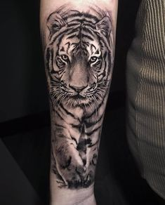 Tiger 🐯 🐯 🐯 tattoo by lion head tattoos, dad tattoos, tig Tiger Tattoo Images, Tiger Tattoo Meaning, Mens Tiger Tattoo, Tiger Face Tattoo, Tiger Tattoo Sleeve, Big Cat Tattoo, Lion Head Tattoos, Tiger Tattoo Design, Tattoo Designs