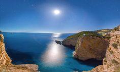 Iliodorus Nest,Chomoi beach in Liapades,Corfu Waxing Gibbous, Leo Lion, Wonderful Places, Constellations, Nest, Planets, Island, Water, 12 Days