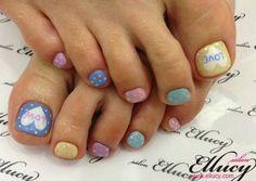 unas de pies decoradas, toes design