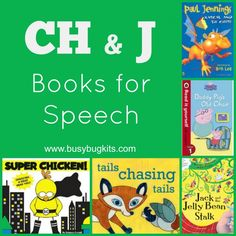 Books for preschoolers working on 'ch' and 'j' sounds in therapy. #learn #spanish #kids