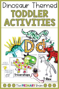 Dinosaur activities are all the rage in our house! My busy toddler loved all of these dinosaur themed activities! Developing fine motor skills in toddlers is so important and is even more fun when they are tied to dinosaur fun! These activities include five dinosaur themed toddler lesson plans, fine motor activities for toddlers, gross motor games, dinosaur art projects, literacy and language, math, science, and more! Engage your toddler in learning with these fun tot school dinosaur activities Dinosaur Art Projects, Dinosaur Activities, Language Activities, Preschool Activities, Motor Activities, Winter Activities, School Week, Tot School, Preschool Lessons
