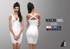 Silan dress at Kenzar Sims via Sims 4 Updates Check more at http://sims4updates.net/clothing/silan-dress-at-kenzar-sims/