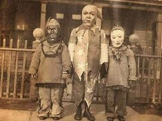 People have been dressing up in costume for Halloween for many years. Here is a collection of vintage photos showing Halloween costumes through the years. These costumes look a lot scarier than some of the costumes we see now.