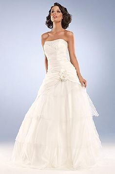 princess style wedding gown