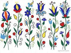 Zakładki wycinanki inspirowane haftem kaszubskim, szkoła żukowska, 2006