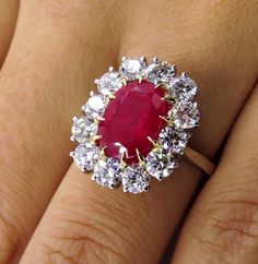 The fiery and captivating Ruby is a stone of nobility, considered the most magnificent of all gems, the queen of stones and the stone of kings.