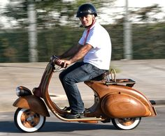 I want to upgrade my current Vespa to a wooden one. thanks.