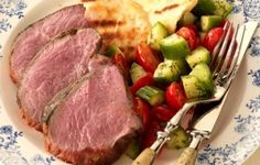Spicy Marinated Leg of Lamb with Tomato-Cucumber Salad: Recipe Courtesy of Jamie Purviance. Weber Grill Recipes, Grilling Recipes, Cooking Recipes, Bbq Beef Ribs, Ribs On Grill, Barbecued Lamb, Bbq Lamb, Great Recipes, Favorite Recipes