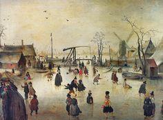 Hendrik Avercamp - Ice Scene at Mauritshuis, The Hague Netherlands