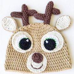 Super Bulky Crochet Hat Pattern (free & easy) | Chunky Crochet Hat Baby Beanie Crochet Pattern, Beanie Pattern Free, Crochet Hood, Easy Crochet Hat, Crochet Deer, Baby Hat Patterns, Easy Crochet Patterns, Double Crochet, Free Crochet