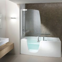 Teuco 385 FY O C Disabled Walk In Modern Bath And Shower Combo   Modern Walk  In Tubs With Showers
