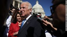 Former vice president Joe Biden criticizes the Trump Administration during his acceptance speech at the Center for Strategic and International Studies.