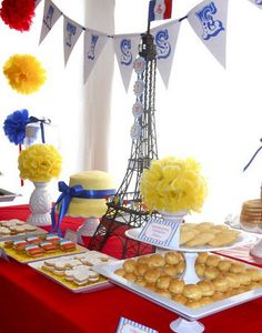 madeline party dessert table.- love love love madeline! perfect for a little girl whose Momma is teaching her French :)