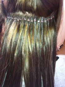 One piece full head clip in hair extensions marketing sarah does a fantastic job of applying micro bead hair extensions pmusecretfo Gallery