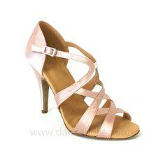 Satin latin salsa dancing shoes | Women's Satin Upper Pink Latin Rhythm And Ballroom Dance Shoes ...