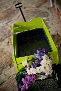 Wagen als Deko mit Blumen füllen?