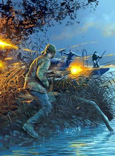 The plot is about the war because it made the main character Rick Ward fought after he left his family to fight in the war.