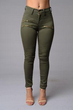 Zip Code Jeans - Olive