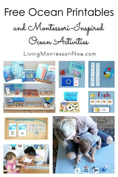 Free Ocean Printables and Montessori-Inspired Ocean Activities You can find Activities and more on our website.Free Ocean Printables and Montessori-Inspired Ocean Activities Kindergarten Worksheets, Preschool Kindergarten, Preschool Themes, Ocean Activities, Dementia Activities, Summer Activities, Physical Activities, Montessori Preschool, Montessori Room