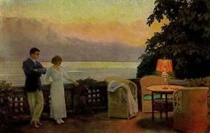 Couple On A Terrace - Paul Gustave Fischer